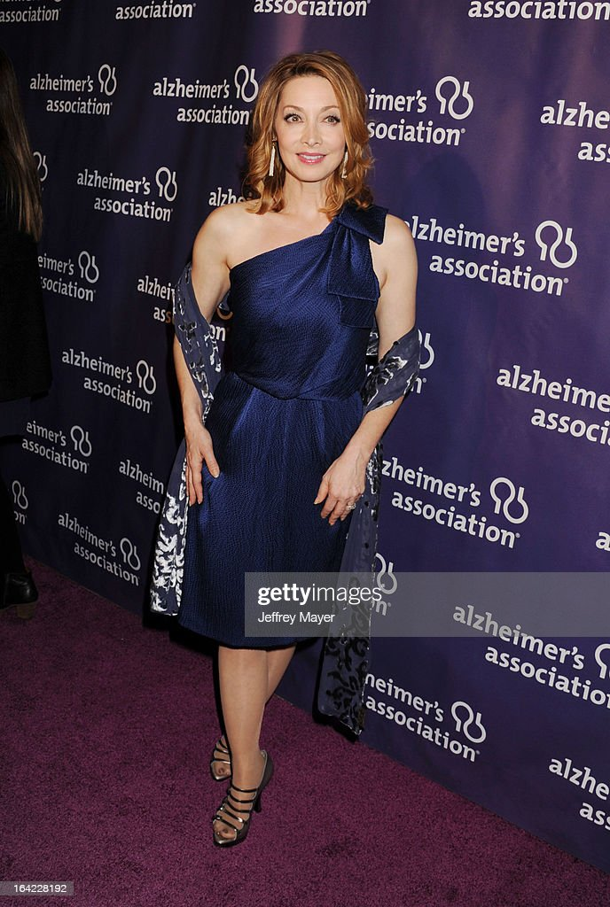 Actress Sharon Lawrence arrives at the 21st Annual 'A Night At Sardi's' to benefit the Alzheimer's Association at The Beverly Hilton Hotel on March 20, 2013 in Beverly Hills, California.