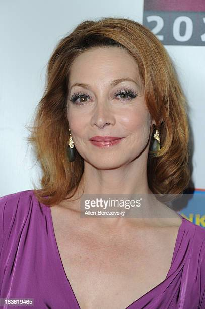 Actress Sharon Lawrence attends the 13th annual Les Girls benefiting the National Breast Cancer Coalition Fund at Avalon on October 7 2013 in...