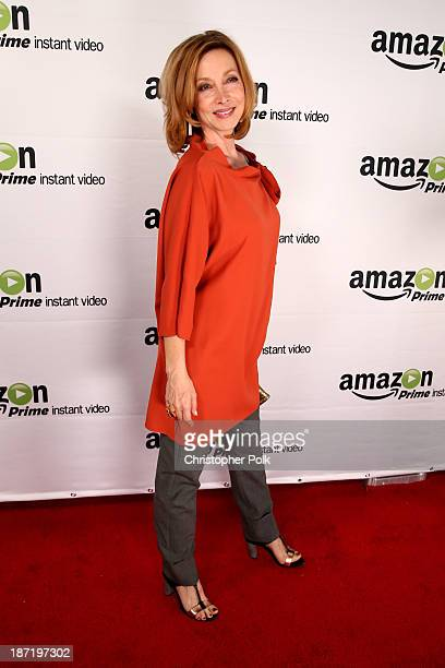 Actress Sharon Lawrence attends the Amazon Studios Launch Party to celebrate the premieres of their 1st original series' 'Alpha House' and 'Betas' at...