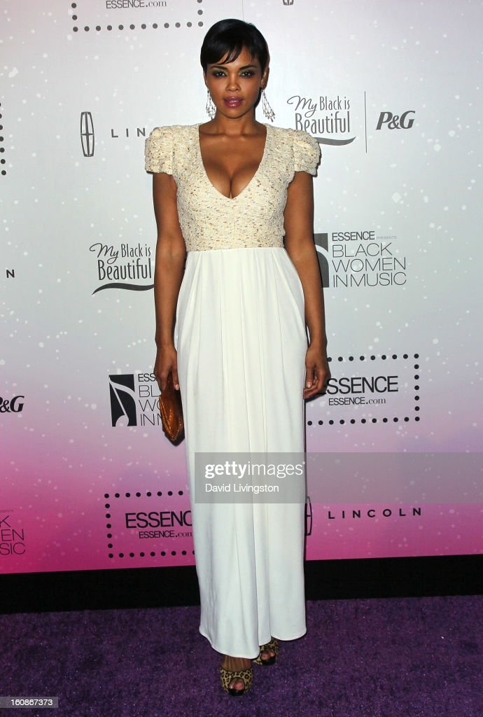 Actress <a gi-track='captionPersonalityLinkClicked' href=/galleries/search?phrase=Sharon+Leal&family=editorial&specificpeople=4292620 ng-click='$event.stopPropagation()'>Sharon Leal</a> attends the 4th Annual ESSENCE Black Women In Music honoring Lianne La Havas and Solange Knowles at Greystone Manor Supperclub on February 6, 2013 in West Hollywood, California.