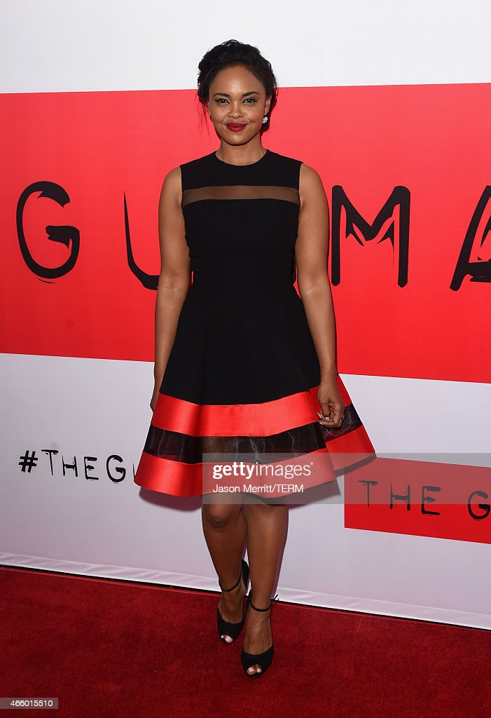 Actress Sharon Leal attends the premiere of Open Road Films' 'The Gunman' at Regal Cinemas L.A. Live on March 12, 2015 in Los Angeles, California.