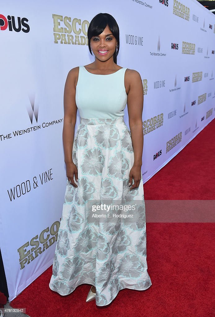 Actress Sharon Leal attends the premiere of RADiUS and The Weinstein Company's 'Escobar: Paradise Lost' at ArcLight Hollywood on June 22, 2015 in Hollywood, California.