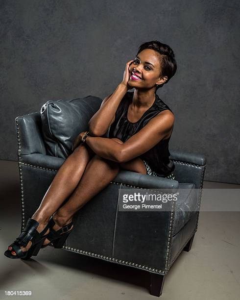 Actress Sharon Leal of '1982' poses at the Guess Portrait Studio during 2013 Toronto International Film Festival on September 12 2013 in Toronto...