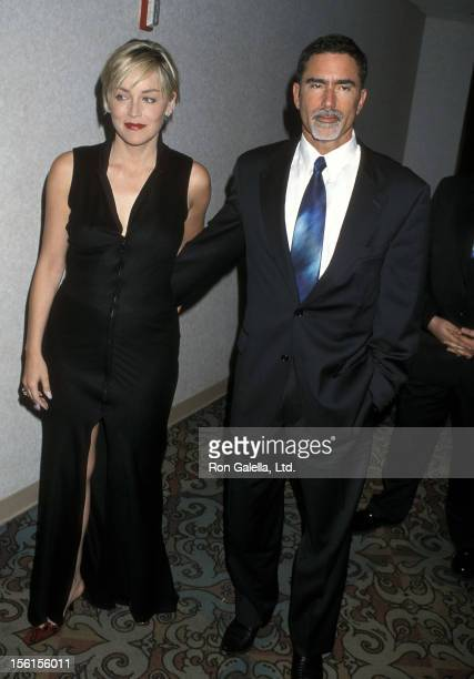 Actress Sharon Stone and husband Phil Bronstein attend the 11th Annual GLAAD Media Awards on April 15 2000 at Century Plaza Hotel in Los Angeles...