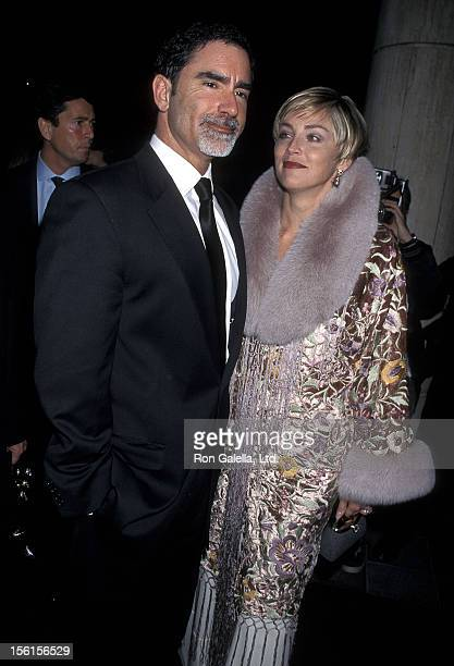 Actress Sharon Stone and husband Phil Bronstein attend the Human Rights Campaign Dinner to Honor Sharon Stone NBC and 'Non on Knight' Proposition 22...