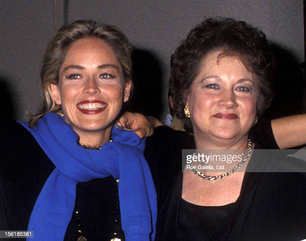 Actress Sharon Stone and mother Dorothy Stone attend HBO's 'Comic Relief V' to Benefit America's Homeless on May 16 1992 at Universal Amphitheatre in...