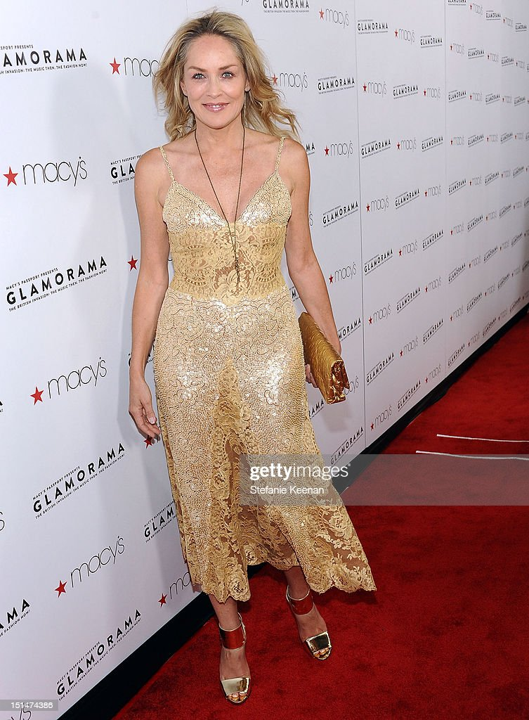 Actress <a gi-track='captionPersonalityLinkClicked' href=/galleries/search?phrase=Sharon+Stone&family=editorial&specificpeople=156409 ng-click='$event.stopPropagation()'>Sharon Stone</a> arrives at Macy's Passport Presents: Glamorama - 30th Anniversary in Los Angeles held at The Orpheum Theatre on September 7, 2012 in Los Angeles, California.