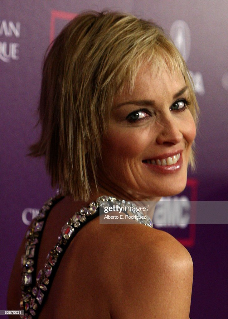 Actress Sharon Stone arrives at the 23rd annual American Cinematheque show honoring Samuel L. Jackson held at Beverly Hilton Hotel on December 1, 2008 in Beverly Hills, California.