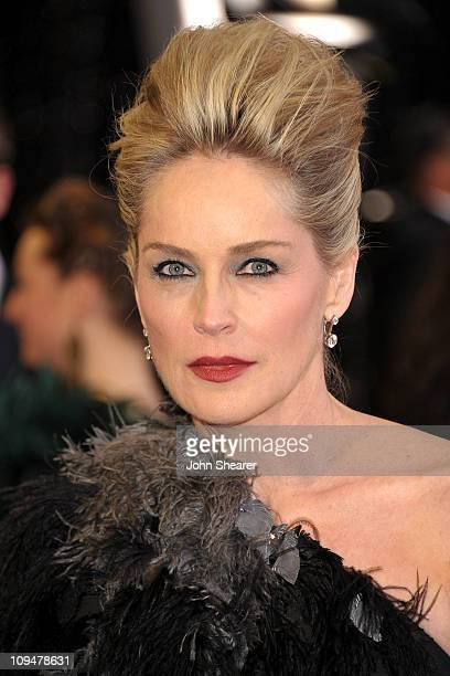 Actress Sharon Stone arrives at the 83rd Annual Academy Awards held at the Kodak Theatre on February 27 2011 in Hollywood California