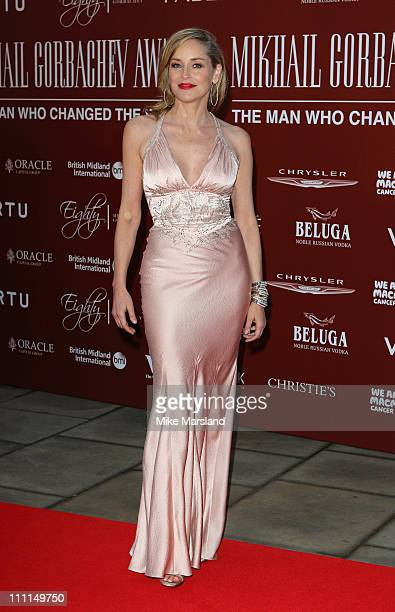 Actress Sharon Stone arrives at the Gorby 80 Gala Concert at Royal Albert Hall on March 30 2011 in London England