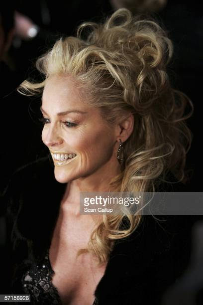 Actress Sharon Stone arrives for the German premiere of 'Basic Instinct II Risk Addiction' March 22 2006 at the Sony Center in Berlin Germany
