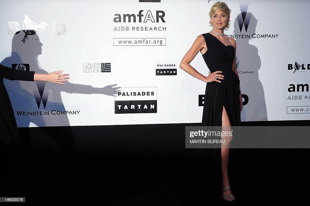 US actress Sharon Stone arrives to attend the Amfar auction on May 21, 2009 in Antibes, southern France. AFP PHOTO MARTIN BUREAU