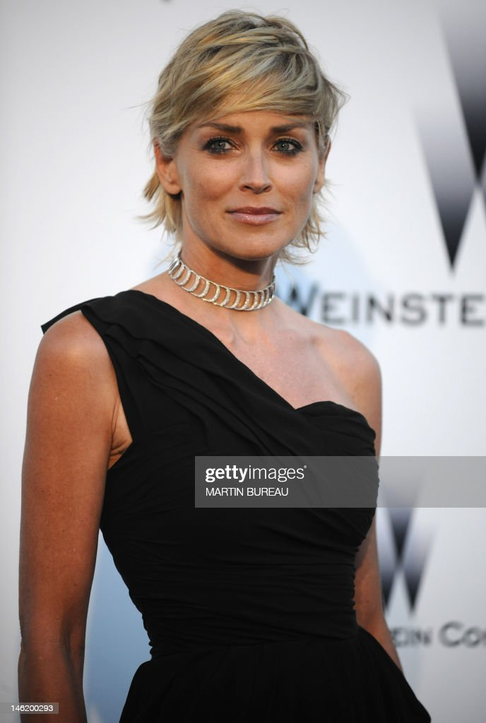 US actress Sharon Stone arrives to lead the Amfar auction on May 21, 2009 in Antibes, southern France.