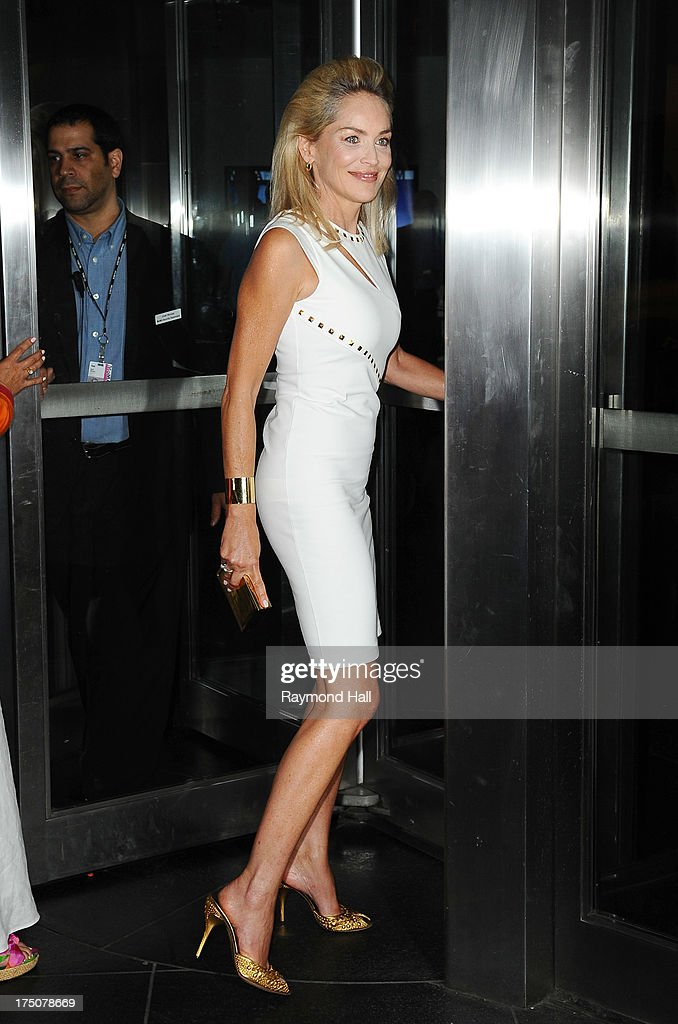Actress <a gi-track='captionPersonalityLinkClicked' href=/galleries/search?phrase=Sharon+Stone&family=editorial&specificpeople=156409 ng-click='$event.stopPropagation()'>Sharon Stone</a> attends a screening of Radius TWC's 'Lovelace' hosted by The Cinema Society and MCM with Grey Goose at The Museum of Modern Art on July 30, 2013 in New York City.