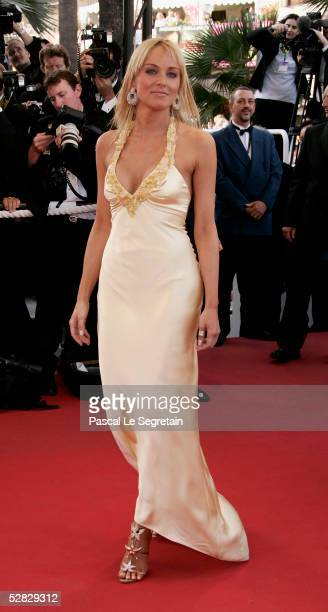 Actress Sharon Stone attends a screening of ' Star War III Revenge of the Sith' at the Grand Theatre during the 58th International Cannes Film...