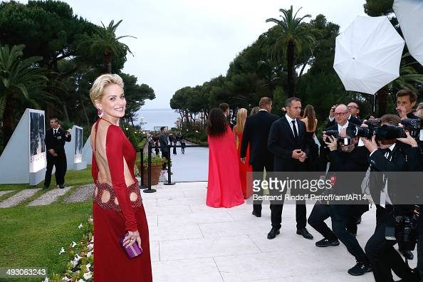 Actress Sharon Stone attends amfAR's 21st Cinema Against AIDS Gala Presented By WORLDVIEW BOLD FILMS And BVLGARI at Hotel du CapEdenRoc on May 22...
