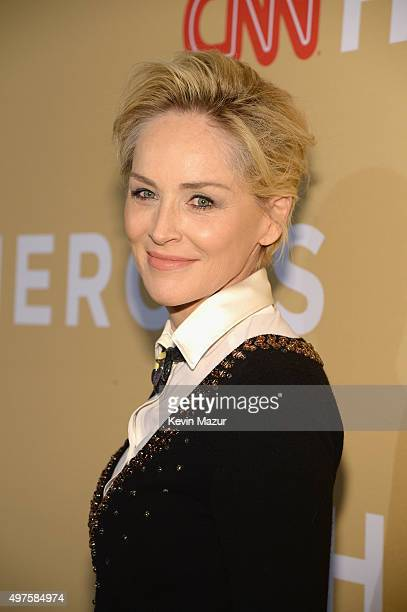Actress Sharon Stone attends CNN Heroes 2015 Red Carpet Arrivals at American Museum of Natural History on November 17 2015 in New York City 25619_022