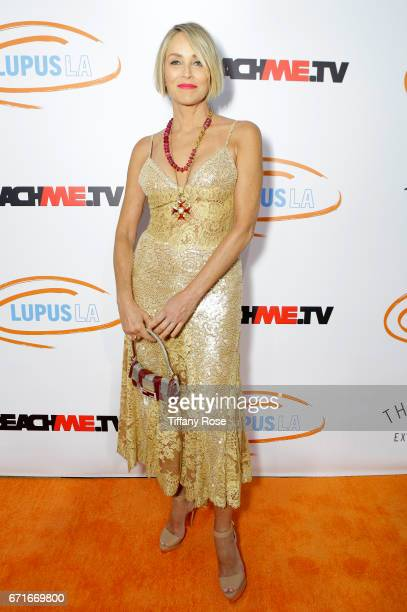 Actress Sharon Stone attends Lupus LA's Orange Ball Rocket to a Cure at the California Science Center on April 22 2017 in Los Angeles California