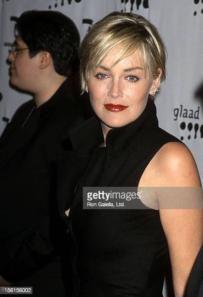 Actress Sharon Stone attends the 11th Annual GLAAD Media Awards on April 15 2000 at Century Plaza Hotel in Los Angeles California