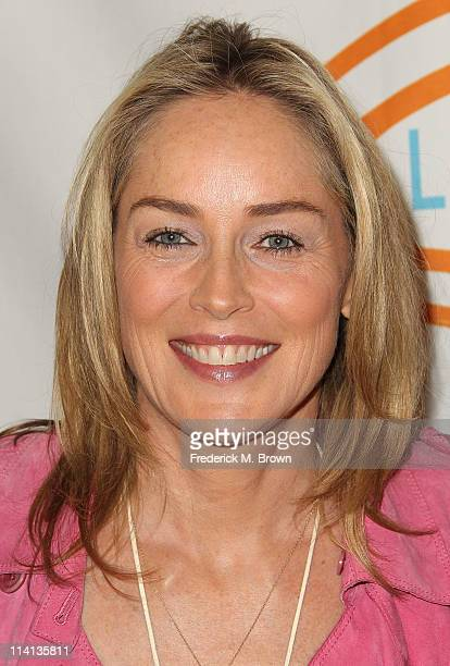 Actress Sharon Stone attends the 11th Annual Lupus LA Orange Ball at the Beverly Wilshire Hotel on May 12 2011 in Beverly Hills California