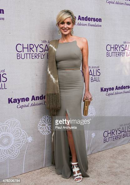 Actress Sharon Stone attends the 14th annual Chrysalis Butterfly Ball at a private Mandeville Canyon Estate on June 6 2015 in Los Angeles California