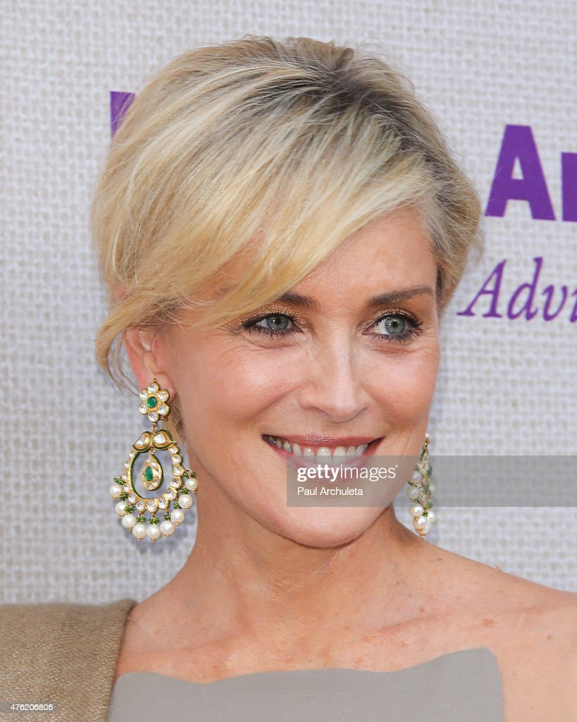 Actress <a gi-track='captionPersonalityLinkClicked' href=/galleries/search?phrase=Sharon+Stone&family=editorial&specificpeople=156409 ng-click='$event.stopPropagation()'>Sharon Stone</a> attends the 14th annual Chrysalis Butterfly Ball at a private Mandeville Canyon Estate on June 6, 2015 in Los Angeles, California.