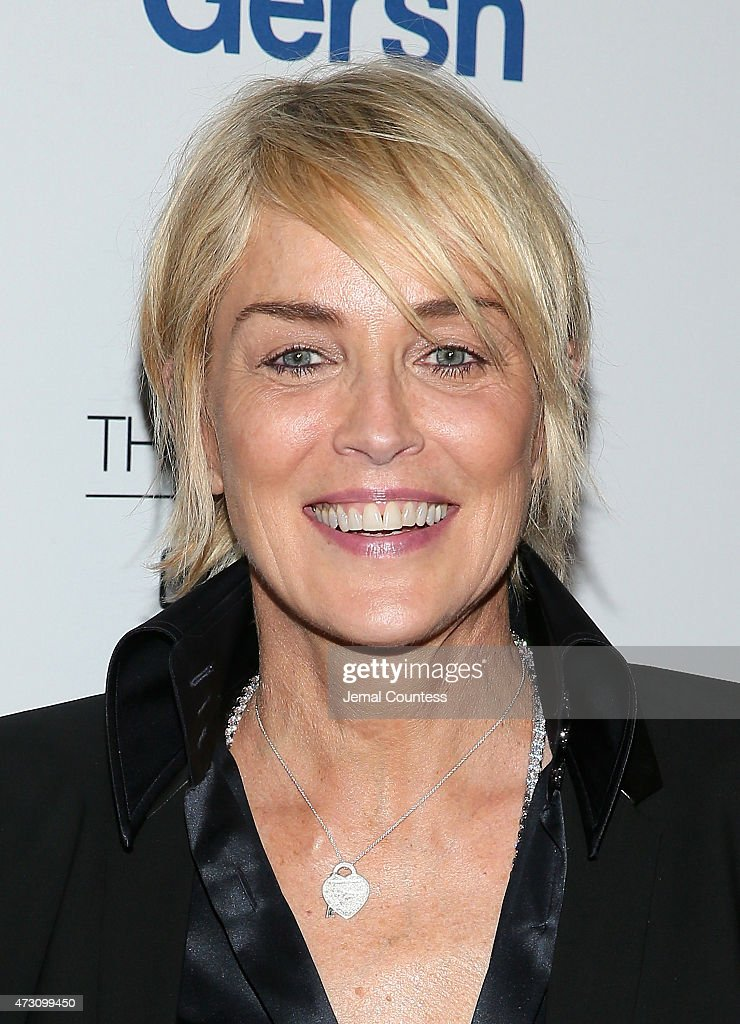 Actress <a gi-track='captionPersonalityLinkClicked' href=/galleries/search?phrase=Sharon+Stone&family=editorial&specificpeople=156409 ng-click='$event.stopPropagation()'>Sharon Stone</a> attends the 2015 Gersh Upfronts Party at Asellina at the Gansevoort on May 12, 2015 in New York City.