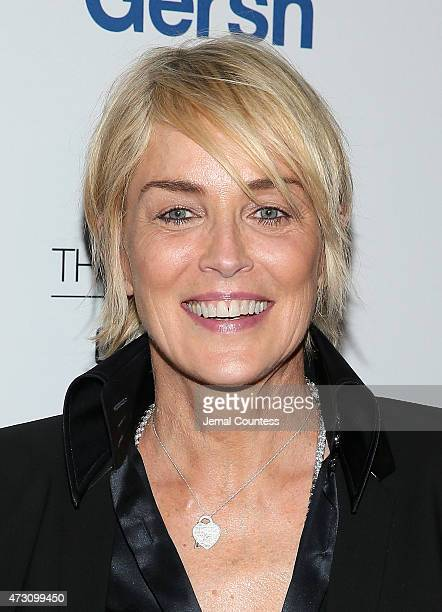 Actress Sharon Stone attends the 2015 Gersh Upfronts Party at Asellina at the Gansevoort on May 12 2015 in New York City