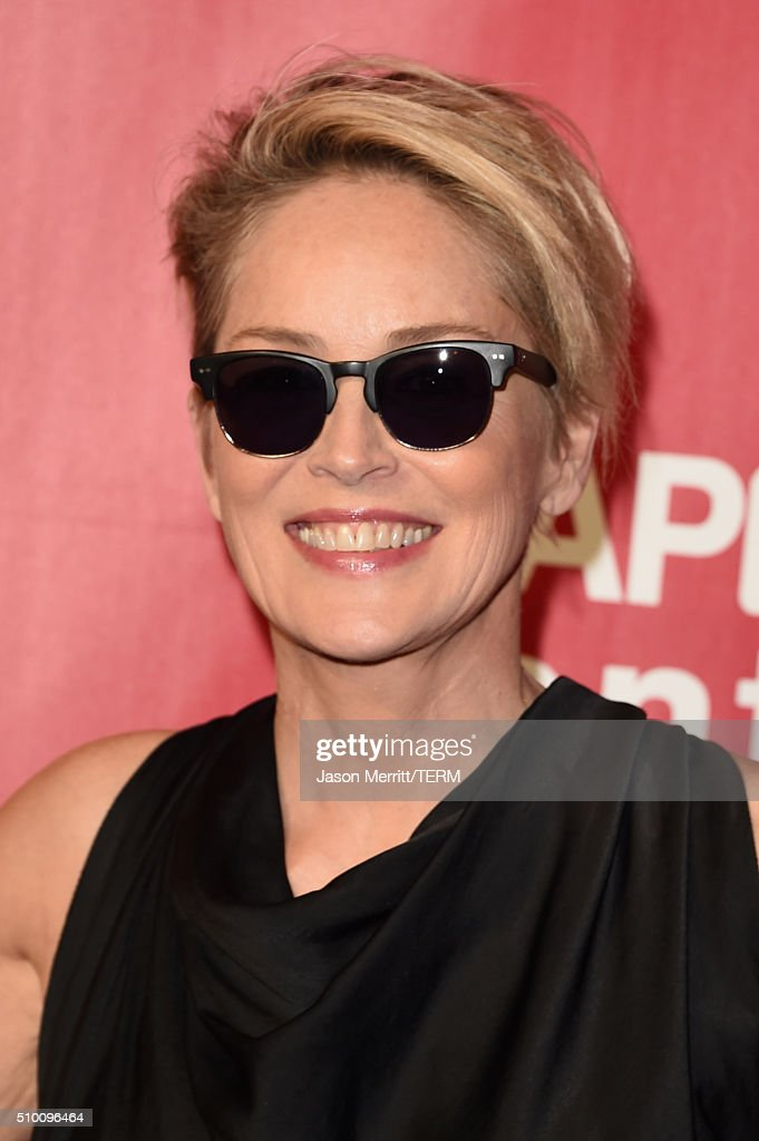 Actress <a gi-track='captionPersonalityLinkClicked' href=/galleries/search?phrase=Sharon+Stone&family=editorial&specificpeople=156409 ng-click='$event.stopPropagation()'>Sharon Stone</a> attends the 2016 MusiCares Person of the Year honoring Lionel Richie at the Los Angeles Convention Center on February 13, 2016 in Los Angeles, California.