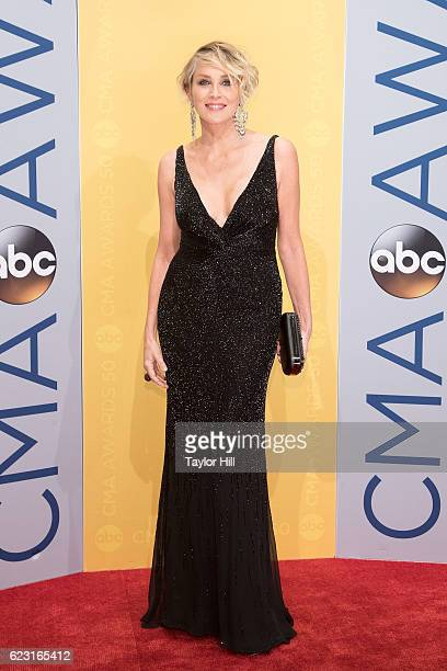 Actress Sharon Stone attends the 50th annual CMA Awards at the Bridgestone Arena on November 2 2016 in Nashville Tennessee