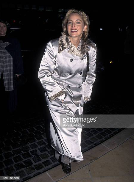 Actress Sharon Stone attends the 68th Annual Academy Awards Nominees Luncheon on March 12 1996 at Beverly Hilton Hotel in Beverly Hills California