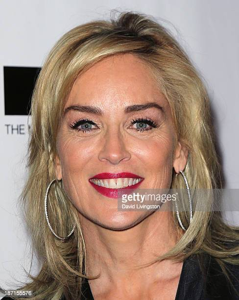 Actress Sharon Stone attends the 8th Annual MOCA Awards to Distinguished Women in the Arts Luncheon at the Beverly Wilshire Four Seasons Hotel on...