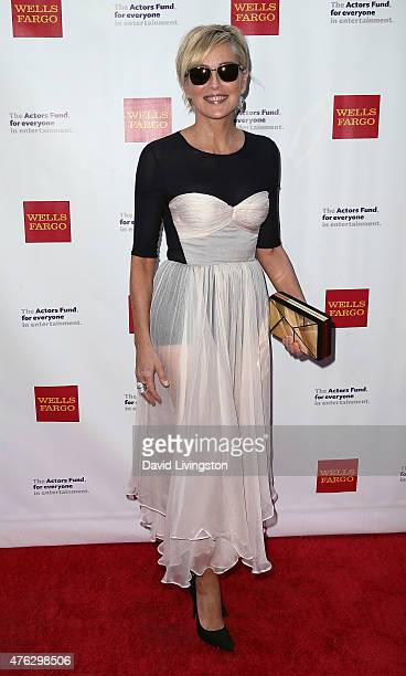 Actress Sharon Stone attends the Actors Fund's 19th Annual Tony Awards Viewing Party at the Skirball Cultural Center on June 7 2015 in Los Angeles...