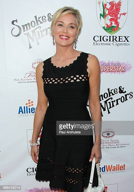 Actress Sharon Stone attends the annual 'Summer Spectacular Under The Stars' for the Brent Shapiro foundation for alcohol and drug awareness on...