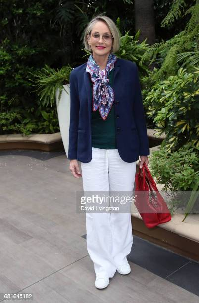Actress Sharon Stone attends the Associates for Breast and Prostate Cancer Studies' Annual Mother's Day Luncheon at the Four Seasons Hotel Los...