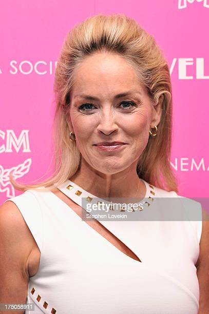 Actress Sharon Stone attends The Cinema Society and MCM with Grey Goose screening of Radius TWC's 'Lovelace' at MoMA on July 30 2013 in New York City