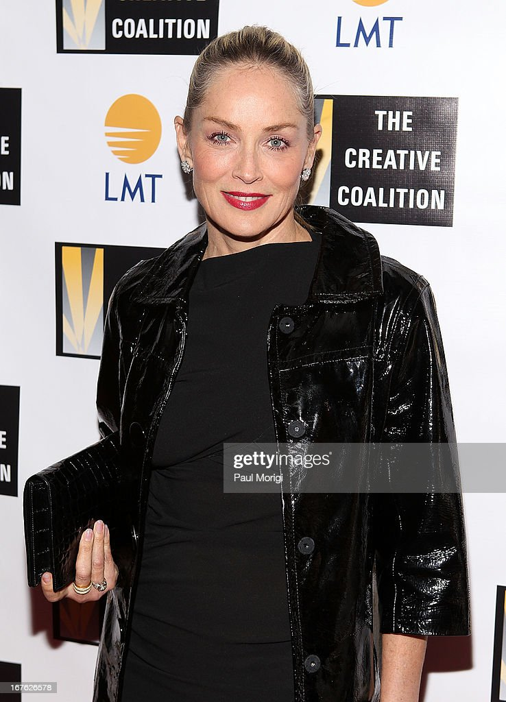 Actress Sharon Stone attends The Creative Coalition's and Lanmark Technology Inc.'s celebration of the Arts in America at Neyla on April 26, 2013 in Washington, DC.