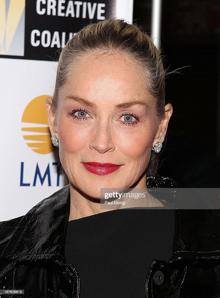 Actress <a gi-track='captionPersonalityLinkClicked' href=/galleries/search?phrase=Sharon+Stone&family=editorial&specificpeople=156409 ng-click='$event.stopPropagation()'>Sharon Stone</a> attends The Creative Coalition's and Lanmark Technology Inc.'s celebration of the Arts in America at Neyla on April 26, 2013 in Washington, DC.