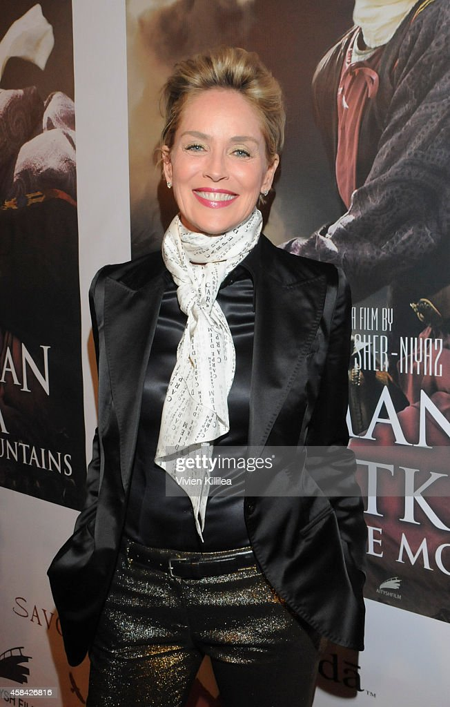 Actress <a gi-track='captionPersonalityLinkClicked' href=/galleries/search?phrase=Sharon+Stone&family=editorial&specificpeople=156409 ng-click='$event.stopPropagation()'>Sharon Stone</a> attends the 'Kurmanjan Datka Queen Of The Mountains' - Red Carpet VIP Reception And Special Screening at the Egyptian Theatre on November 4, 2014 in Hollywood, California.