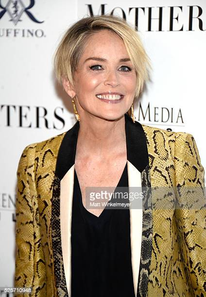 Actress Sharon Stone attends the Los Angeles Premiere of Screen Media Film's 'Mothers And Daughters' at The London on April 28 2016 in West Hollywood...