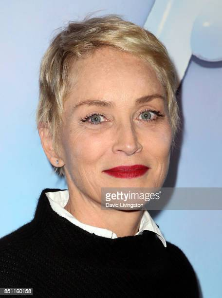 Actress Sharon Stone attends the premiere of Alex Israel's 'SPF18' at University High School on September 21 2017 in Los Angeles California