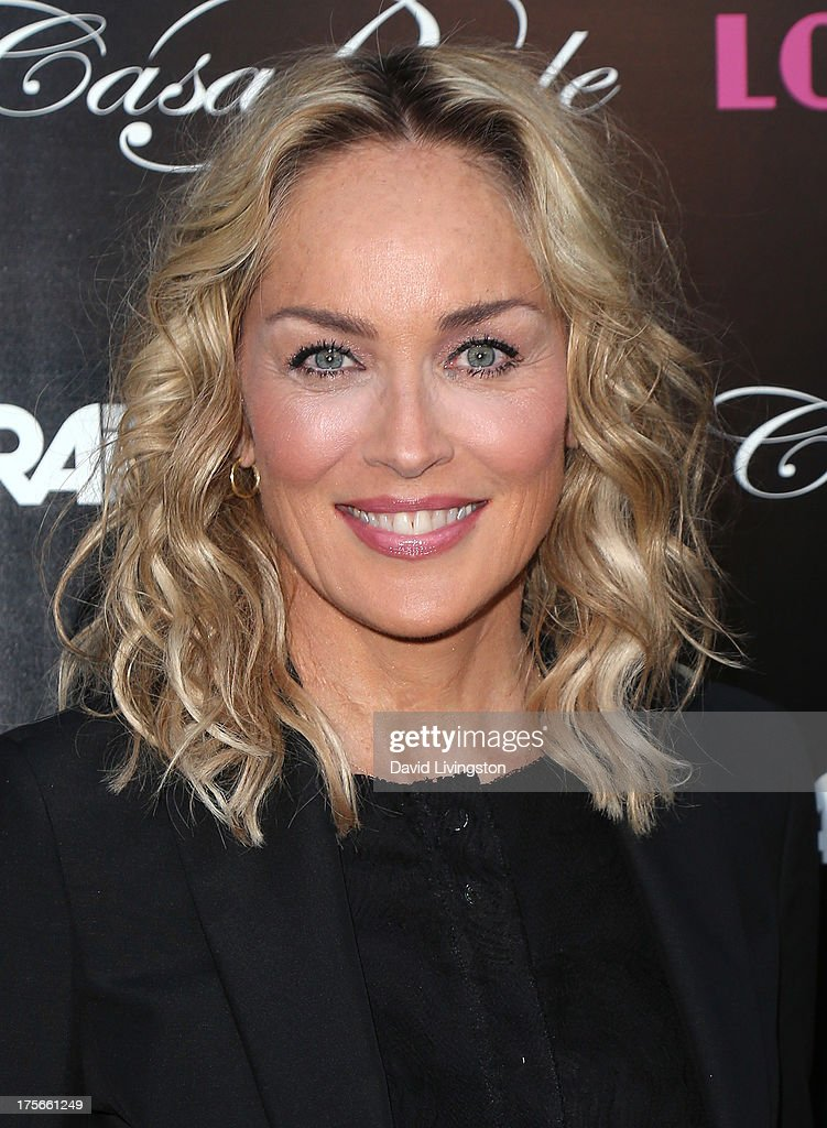 Actress <a gi-track='captionPersonalityLinkClicked' href=/galleries/search?phrase=Sharon+Stone&family=editorial&specificpeople=156409 ng-click='$event.stopPropagation()'>Sharon Stone</a> attends the premiere of RADiUS-TWC's 'Lovelace' at the Egyptian Theatre on August 5, 2013 in Hollywood, California.