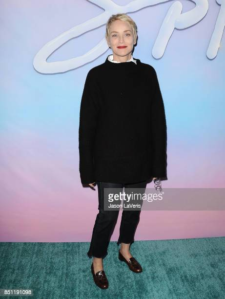Actress Sharon Stone attends the premiere of 'SPF18' at University High School on September 21 2017 in Los Angeles California