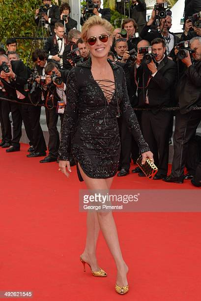 Actress Sharon Stone attends 'The Search' Premiere at the 67th Annual Cannes Film Festival on May 21 2014 in Cannes France