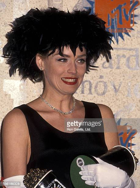 Actress Sharon Stone attends the Second Annual MTV Movie Awards on June 5 1993 at Walt Disney Studios in Burbank California