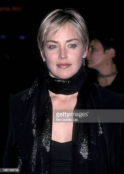 Actress Sharon Stone attends the 'Simpatico' Hollywood Premiere on December 13 1999 at the Egyptian Theatre in Hollywood California