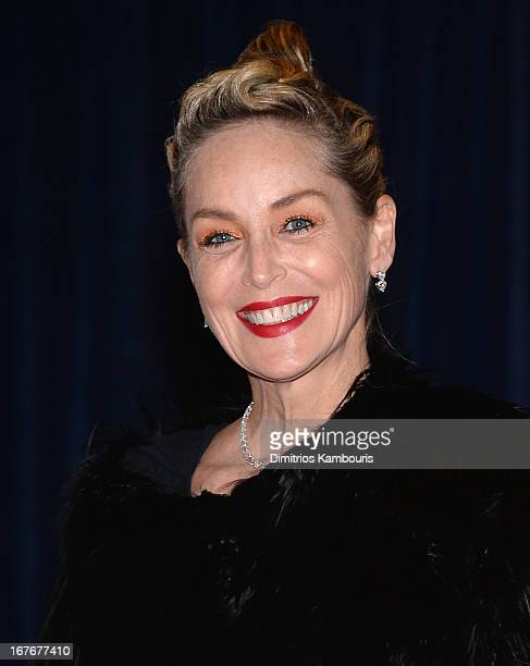 Actress Sharon Stone attends the White House Correspondents' Association Dinner at the Washington Hilton on April 27 2013 in Washington DC