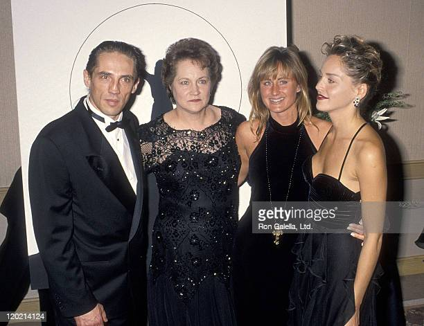 Actress Sharon Stone brother Michael Stone mother Dorothy Stone and sister Kelly Stone attend the Aviva Center of Los Angeles' 'Spirit of Compassion'...