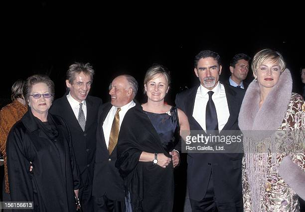 Actress Sharon Stone husband Phil Bronstein mother Dorothy Stone brother Michael Stone father Joseph Stone and sister Kelly Stone attend the Human...
