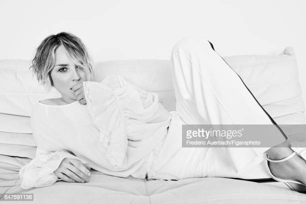 Actress Sharon Stone is photographed for Madame Figaro on January 12 2017 in Los Angeles California Blouse and pants sandals PUBLISHED IMAGE CREDIT...